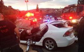 תאונת הדרכים בכביש 854