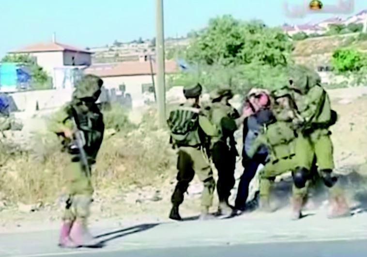 """העימות בין חיילי גדוד """"נצח יהודה"""" לפלסטיני"""