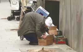 עוני בירושלים אישה עניה אוכל רעב