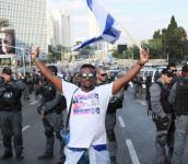 מחאת יוצאי אתיופיה בתל אביב