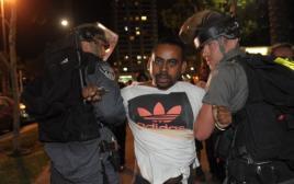 """מעצרים במחאת יוצאי אתיופיה בת""""א"""