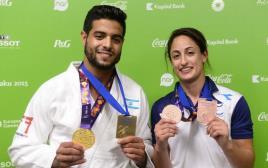 ירדן ג'רבי ושגיא מוקי עם המדליות