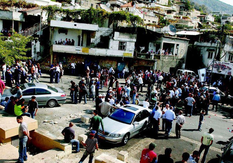 המהומות בפקיעין בשנת 2007. צילום: חמד אלמקת