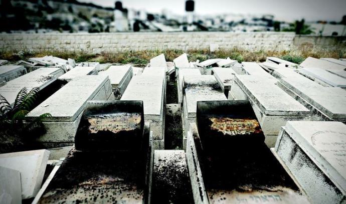 מצבות שרופות בהר הזיתים
