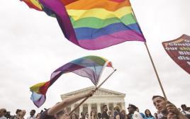 חוגגים בוושינגטון את ההחלטה לאשר נישואים חד מיניים