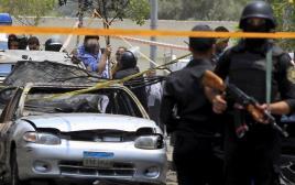 זירת הפיגוע בקהיר