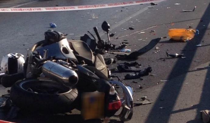 תאונת אופנוע בכביש 1