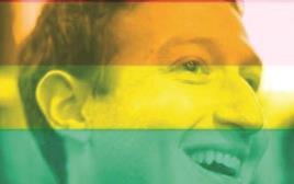 מארק צוקרברג בתמונת פרופיל בצבעי הגאווה