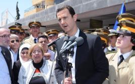נשיא סוריה בשאר אסד ותומכיו