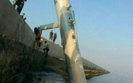 """המזל""""ט ישראלי שלפי צבא לבנון נפל לים"""