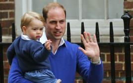 הנסיך וויליאם ובנו הנסיך ג'ורג'