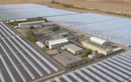 הדמיית תחנת הכוח ליד אשלים