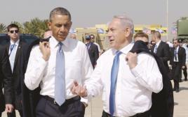 ברק אובמה ובנימין נתניהו בישראל 2013