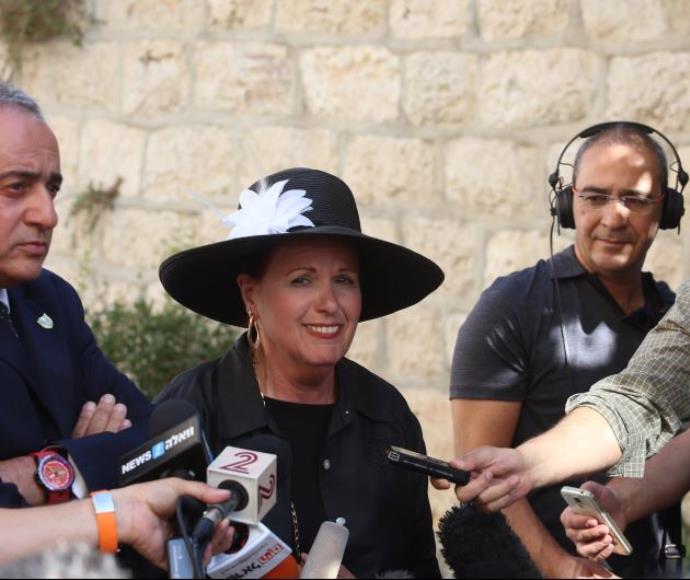 אסתר פולארד לאחר ההודעה על שחרור ג'ונתן פולארד