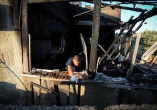 הבית שהוצת בכפר דומא. צילום: פלאש 90