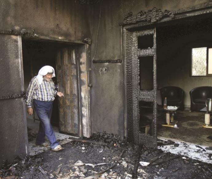 בית משפחת דוואבשה לאחר הפיגוע