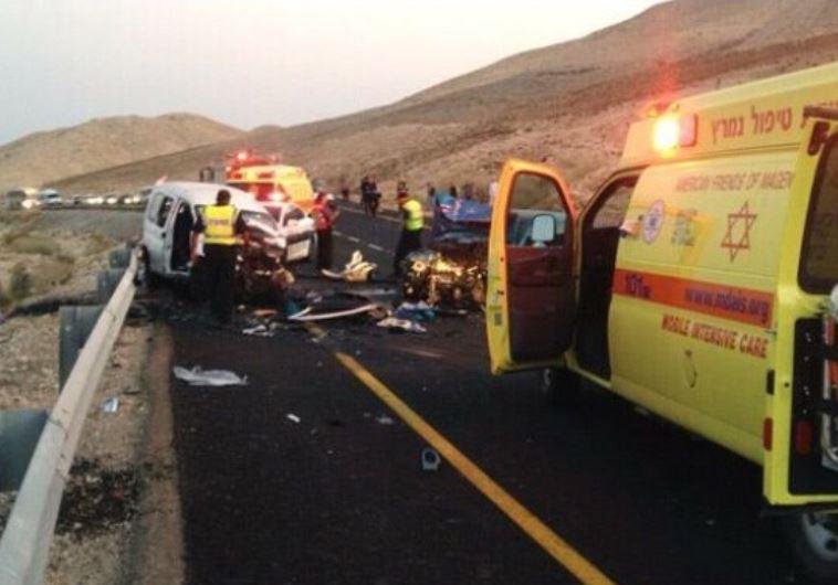 תאונת דרכים בכביש 40, מצפה רמון
