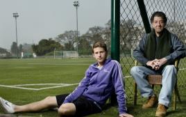 ליאור ייני עם בנו שרן