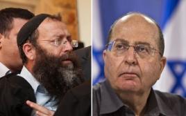 שר הביטחון משה בוגי יעלון ופעיל הימין ברוך מרזל