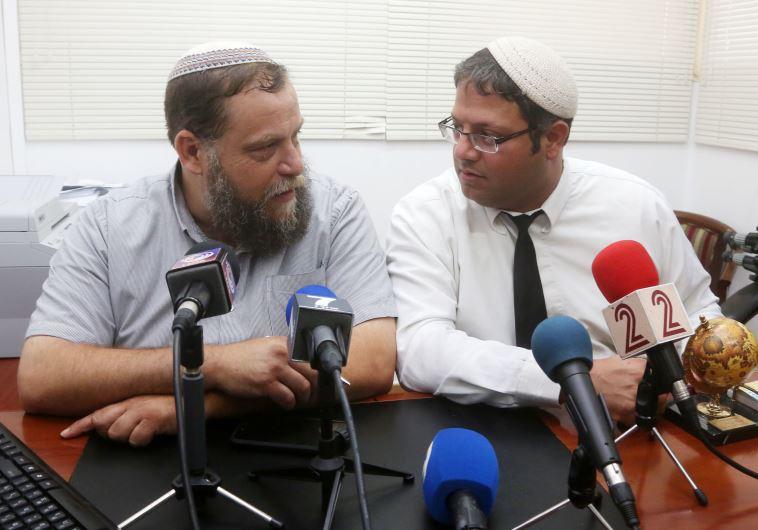 איתמר בן גביר (מימין) ובנצי גופשטיין (משמאל). התעמתו עם עובדי אלג'זירה. צילום: מרק ישראל סלם