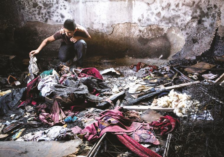 זירת הפיגוע בדומא, צילום: מרים אלסטר, פלאש 90