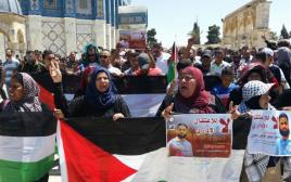 הפגנה לשחרור האסיר מוחמד עלאן