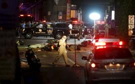 כוחות המשטרה לאחר הפיגוע בבנגקוק