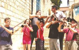 ילדי הרכב השלייקס בפסטיבל הכליזמרים בצפת