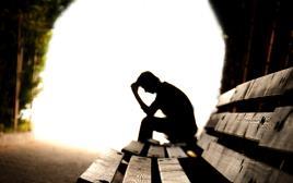 צללית, גבר עצוב, דיכאון, סבל