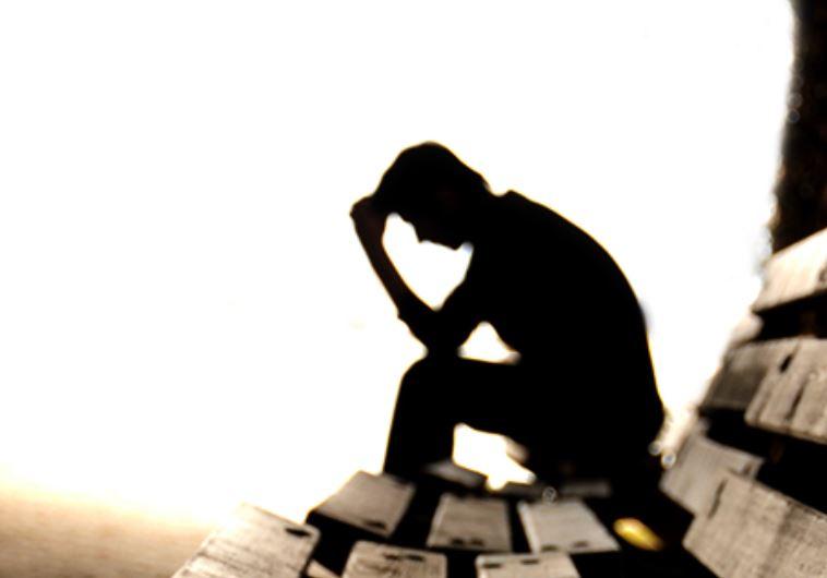 גבר בדיכאון, אילוסטרציה