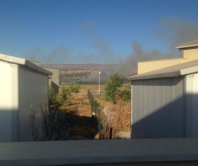 שריפות בעקבות נפילות בגליל העליון