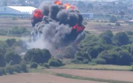 מטוס פעלולים שהתרסק בבריטניה