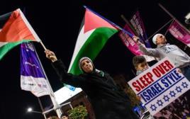 הפגנה נגד ישראל בסידני