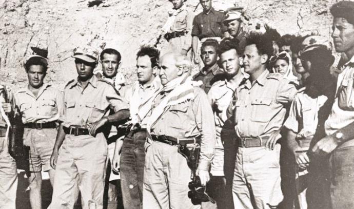 דוד בן גוריון, יצחק רבין ויגאל אלון