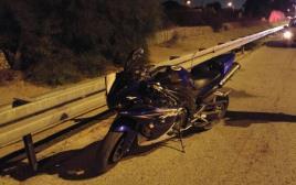 תאונת אופנוע בכביש 4
