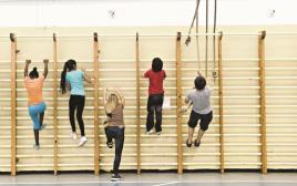 שיעור חינוך גופני בבית ספר