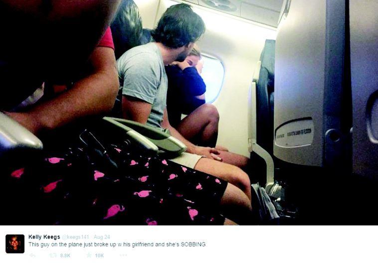 בני זוג רבים במטוס