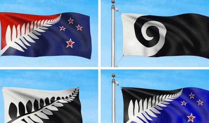 ארבע האפשרויות לדגל החדש של ניו זילנד