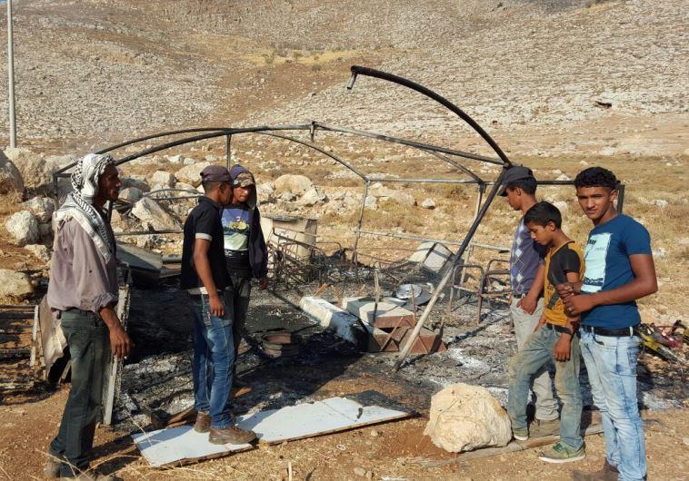 הצתה של אוהל - טרור יהודי