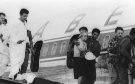 מטוס סבנה לאחר חילוץ החטופים