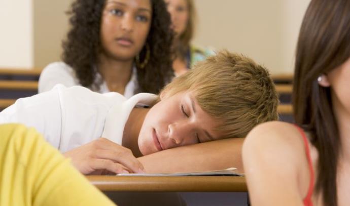 תלמיד ישן בשיעור