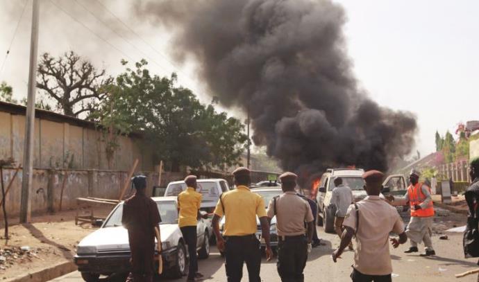 פיצוץ מכונית תופת בעיר הניגרית גומבה, פברואר 2015
