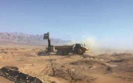 העבודות על הקמת גר בגבול ירדן