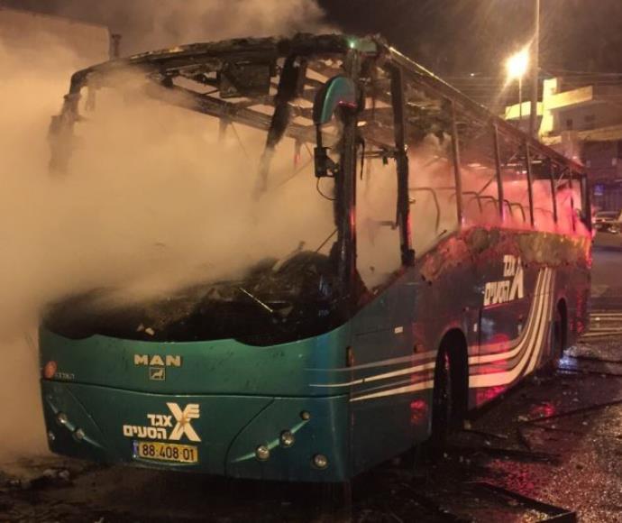 שריפה של אוטובוס אגד בראס אל עמוד