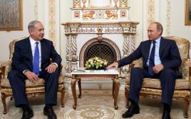 בנימין נתניהו נפגש עם נשיא רוסיה ולדימיר פוטין