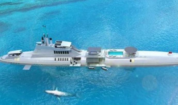 אי צף המותאם לצוללות פרטיות