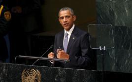 """נשיא ארה""""ב ברק אובמה בעצרת האו""""ם"""