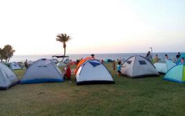 אוהלים בגן לאומי אשקלון
