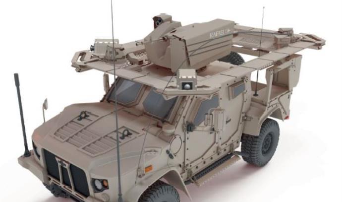 רכב האושקוש עם מערכת ההגנה של רפאל