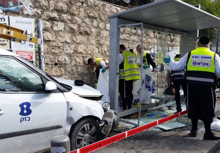 זירת פיגוע הדריסה במלכי ישראל בירושלים